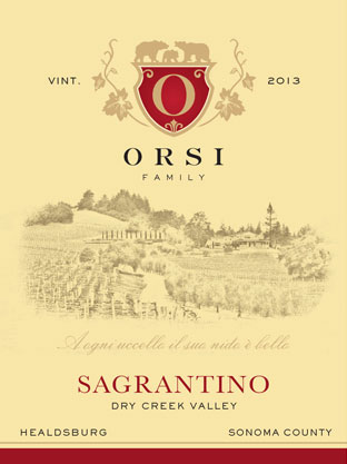 2013 Sagrantino (Dry Creek Valley) Orsi Home Ranch Photo