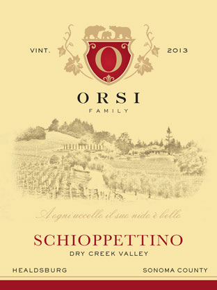 2013 Schioppettino (Dry Creek Valley) Orsi Home Ranch Photo