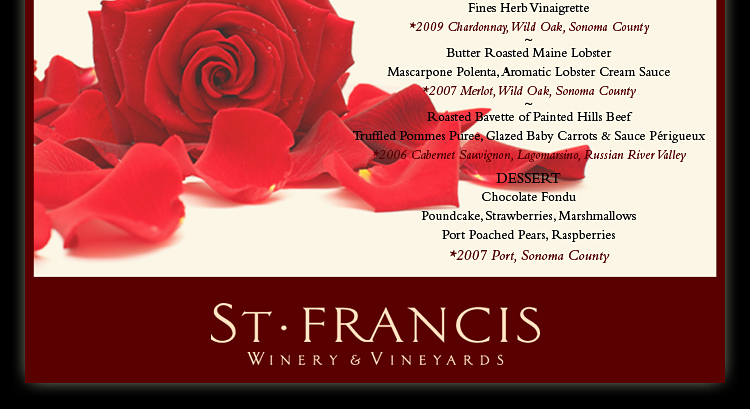11val7 St Francis Wine Dinner