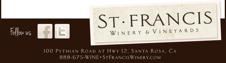 5ship foot3 St. Francis Winery & Vineyards Update