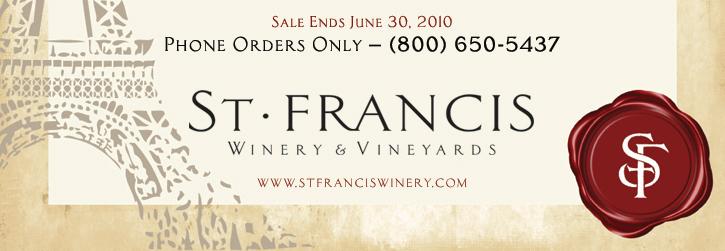 c1 St. Francis White Wine Sale