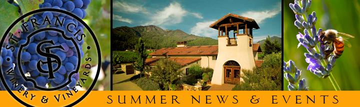 nlsummer2012 header St. Francis Winery & Vineyards Update