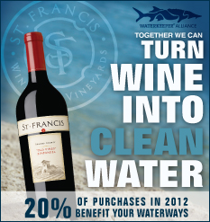 sfwwaterkeeper feature St. Francis Winery & Vineyards Update