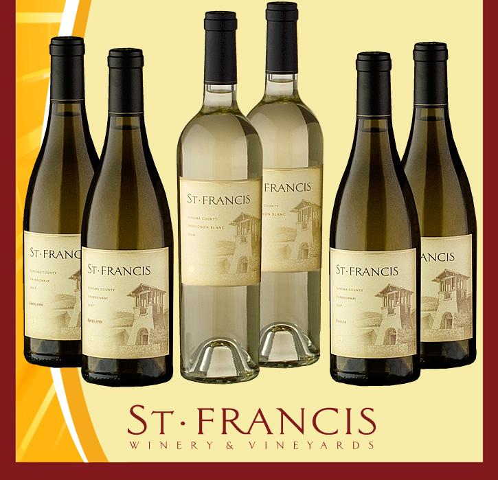 summer6 4 St. Francis White Wine Summer Pack