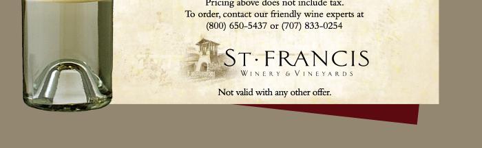 t3 St. Francis Sauvignon Blanc Offer
