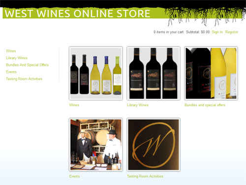 West Wines E-Commerce