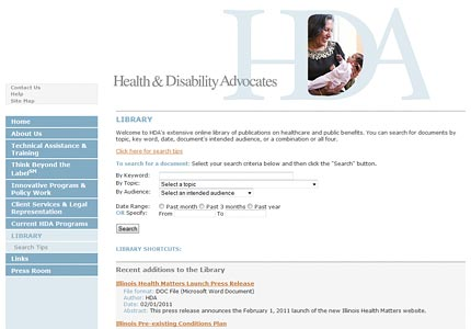 Health and Disability Advocates