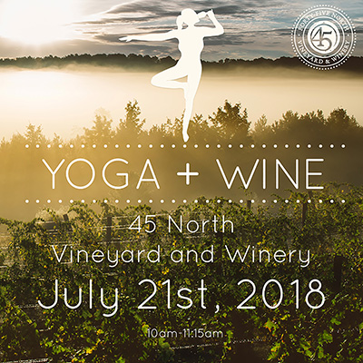 Yoga + Wine July 21st