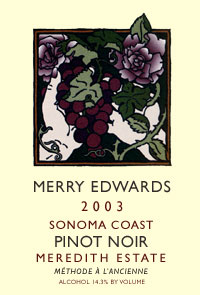 2003 Meredith Estate Pinot Noir