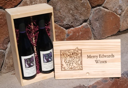 Two-Bottle Wooden Gift Box