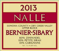 2013 Bernier-Sibary Zinfandel Photo