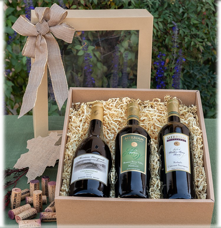 Three Bottle Mixed Wine Gift