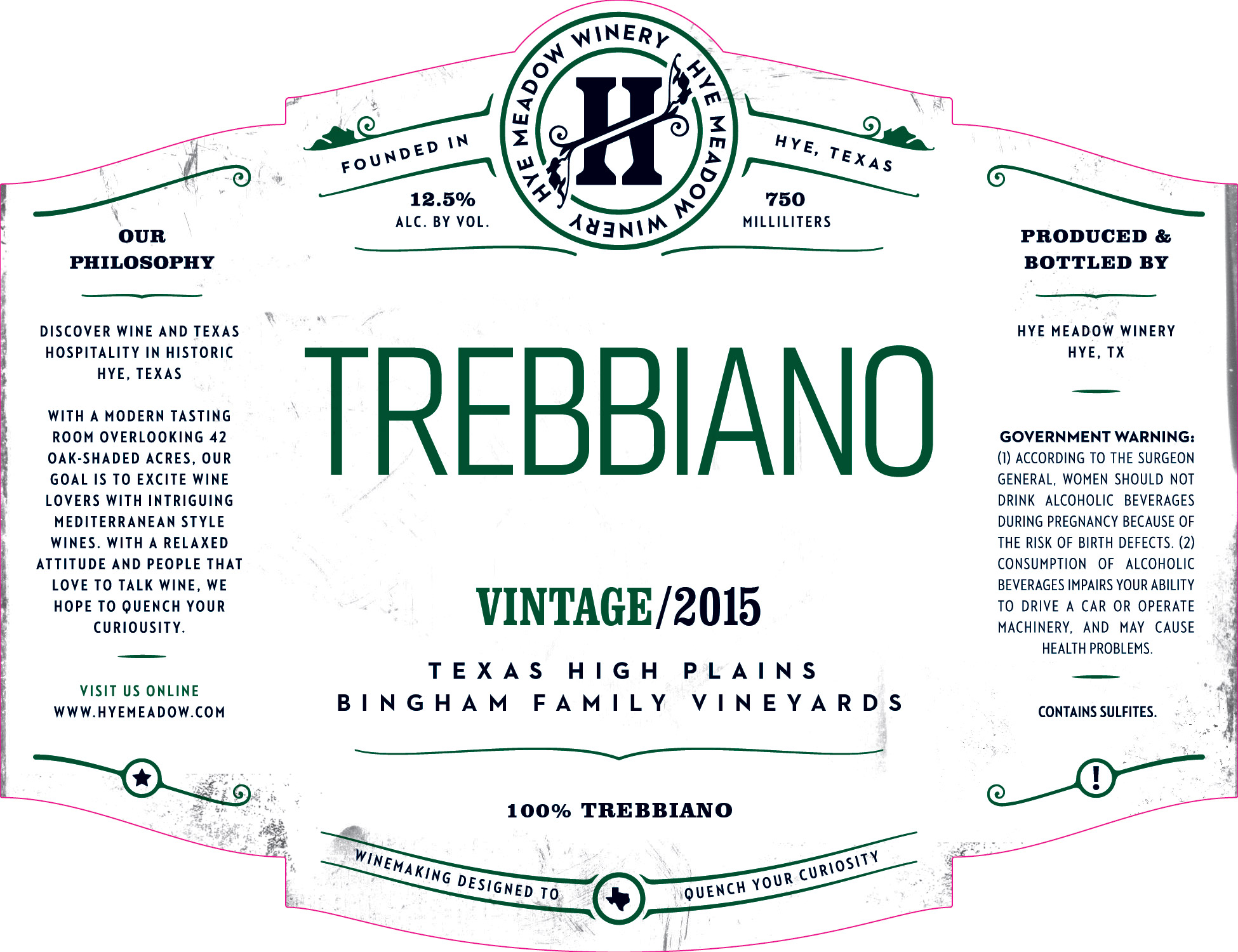 2015 Trebbiano - Sold Out  Photo