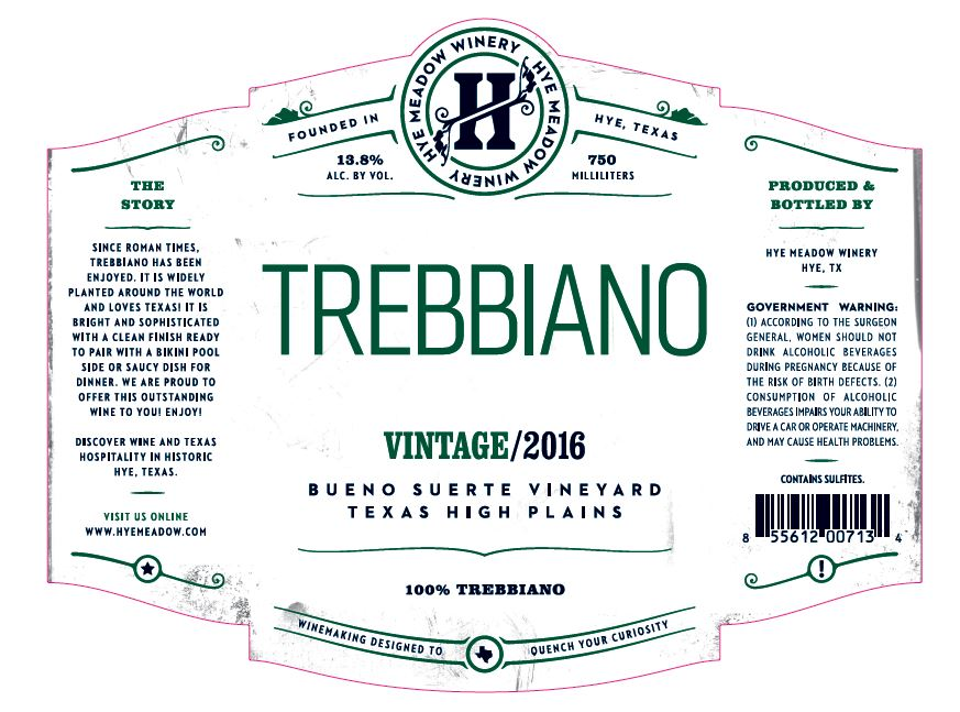 2016 Trebbiano  Photo