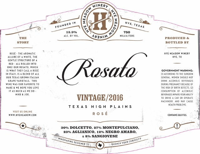 2016 Rosato - SOLD OUT