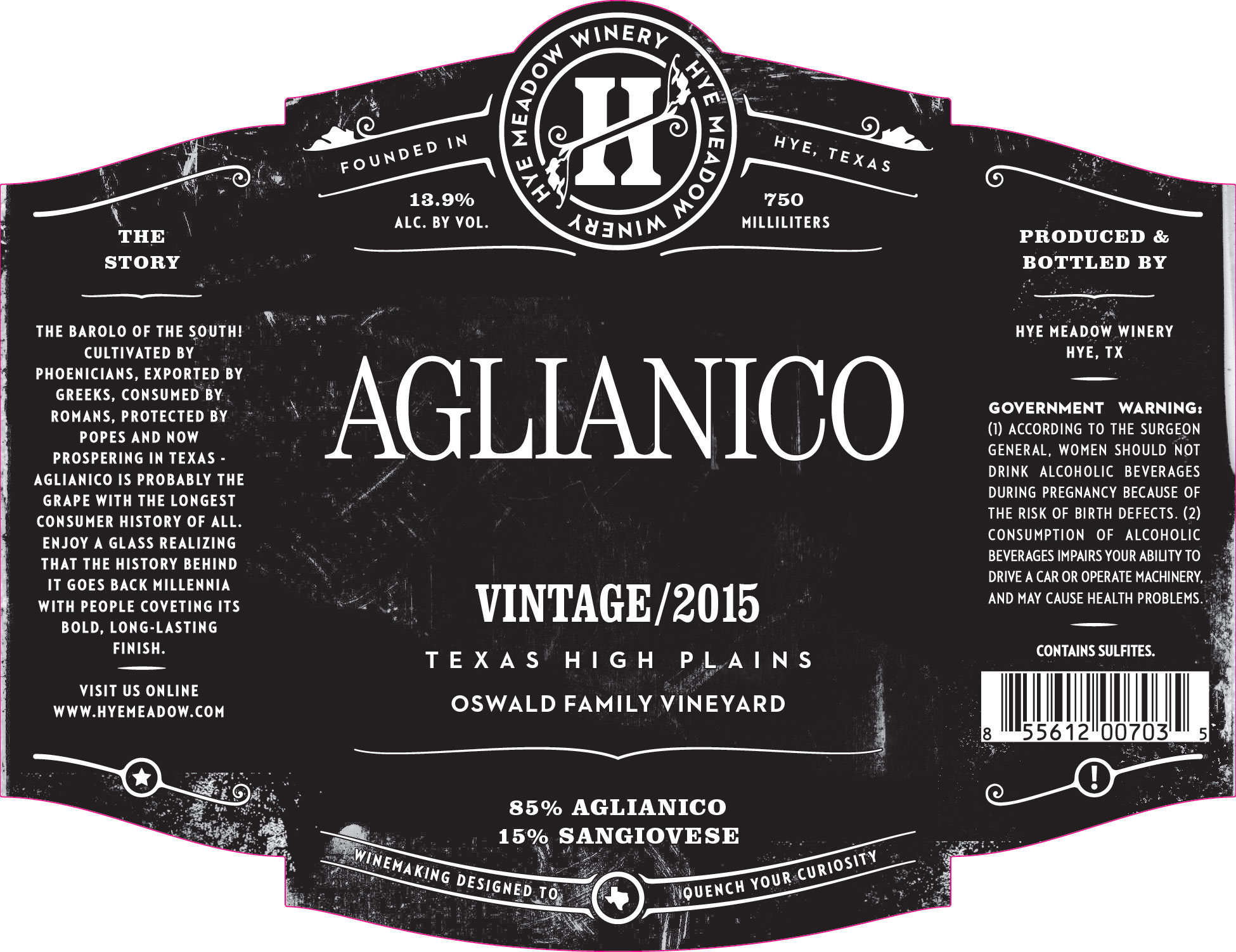 2015 Aglianico Photo