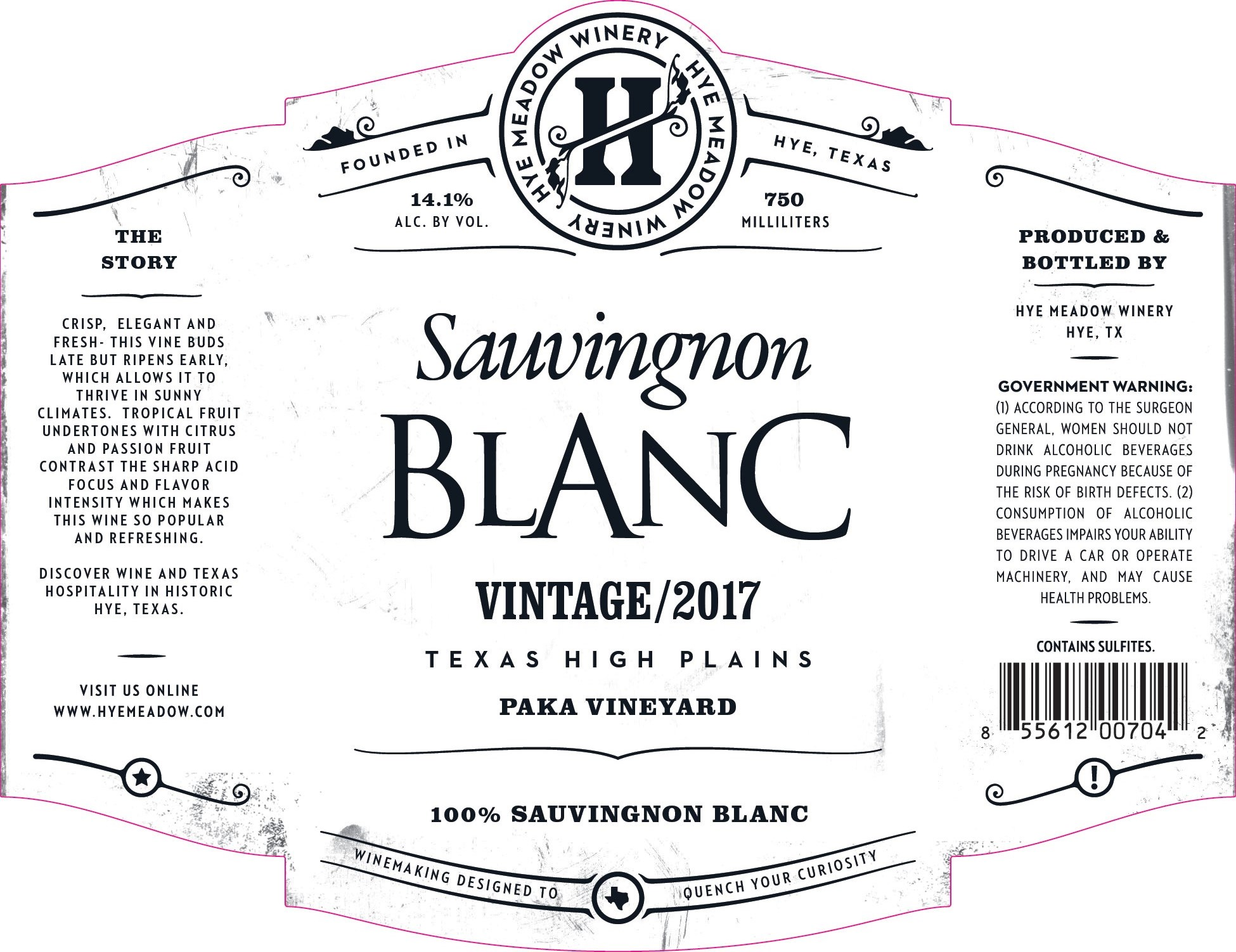 2017 Sauvignon Blanc- SOLD OUT Photo