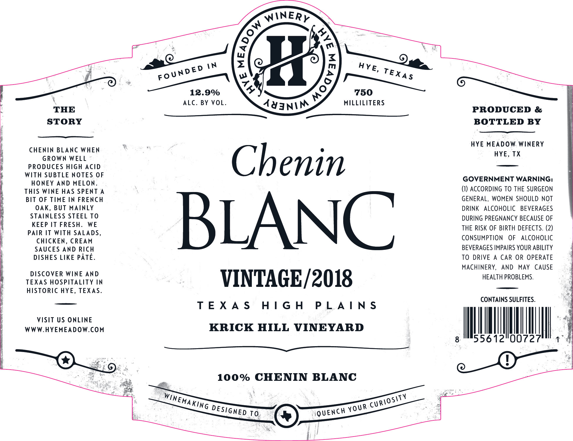 2018 Chenin Blanc Photo
