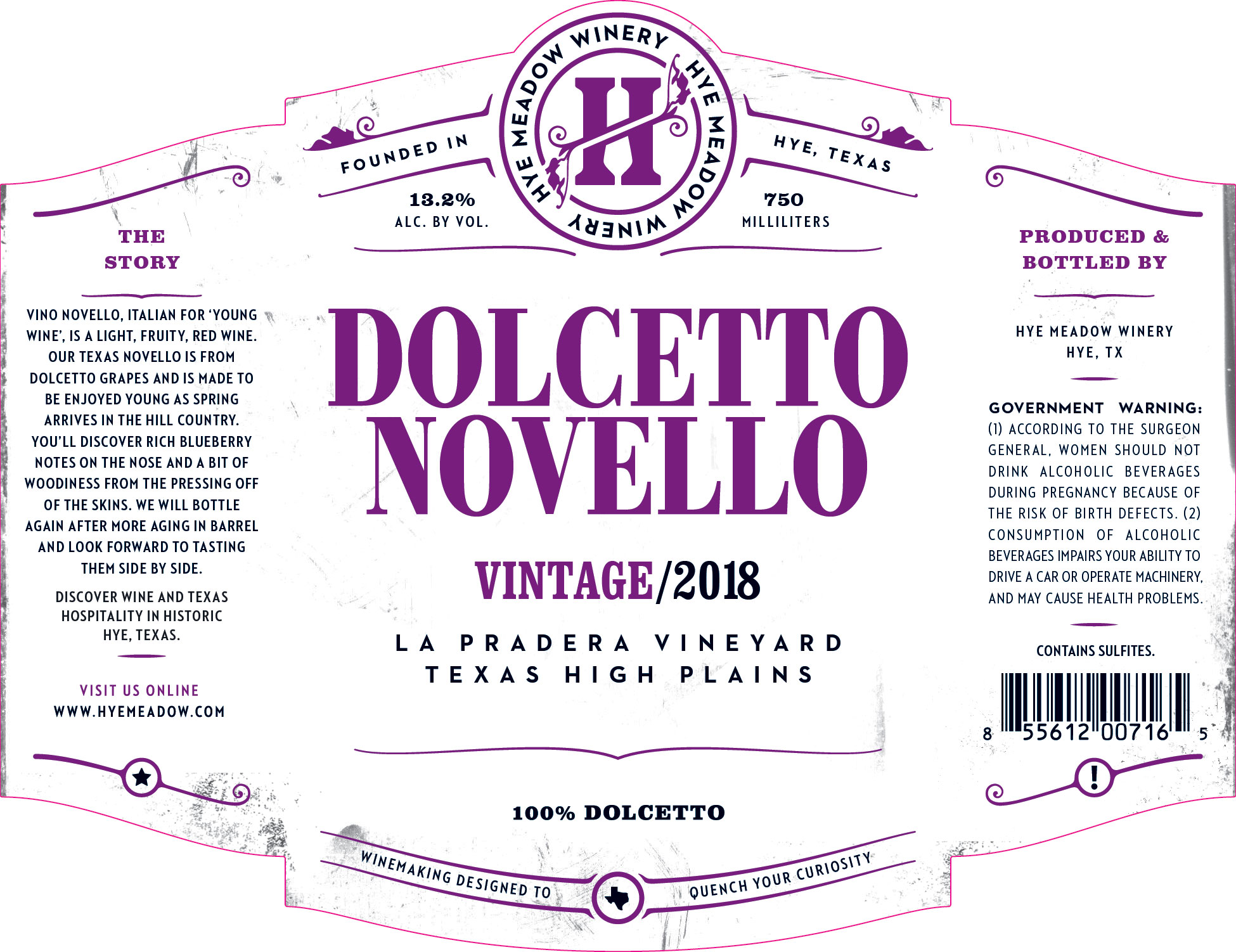 2018 Dolcetto Novello Photo