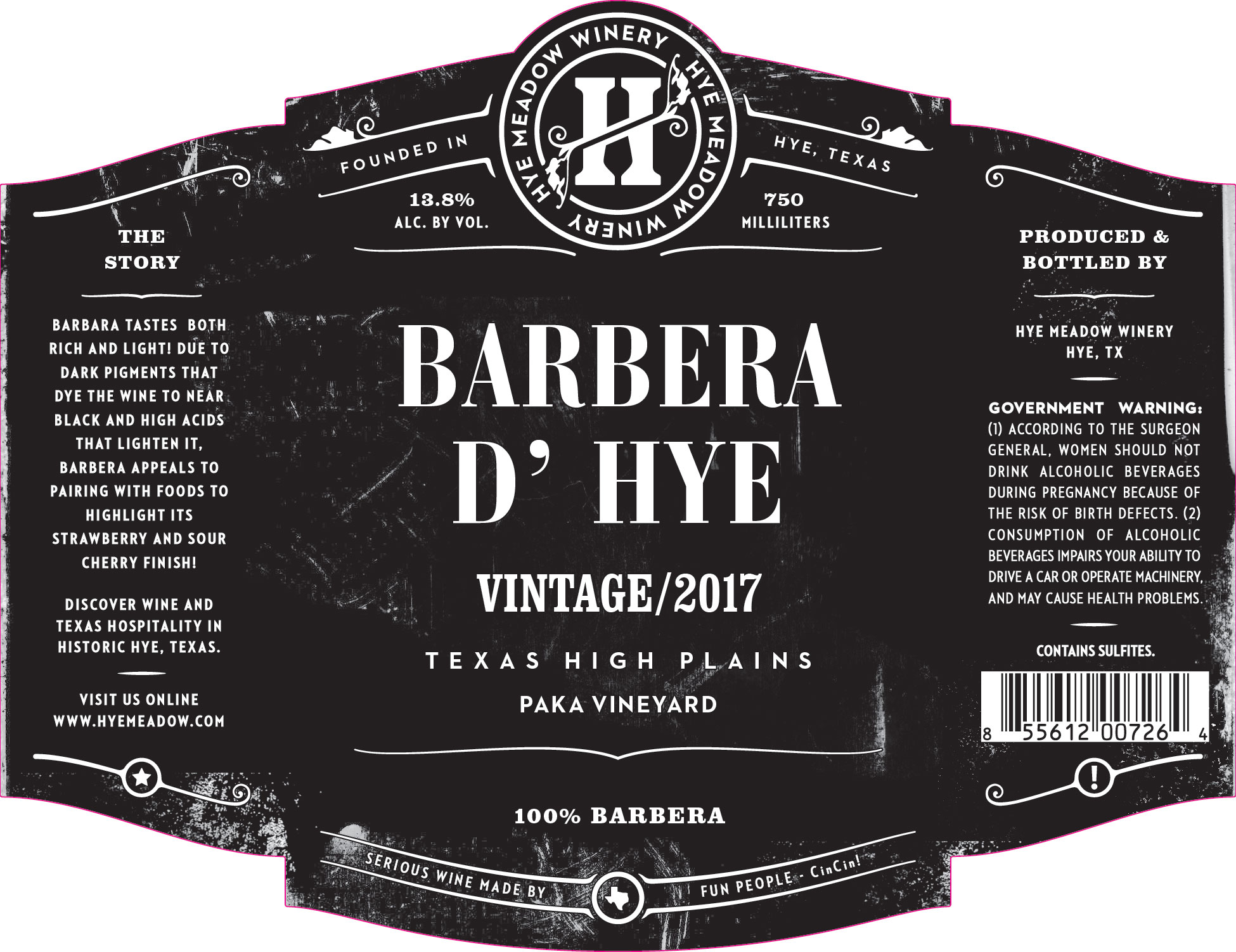 2017 Barbera d' Hye Photo