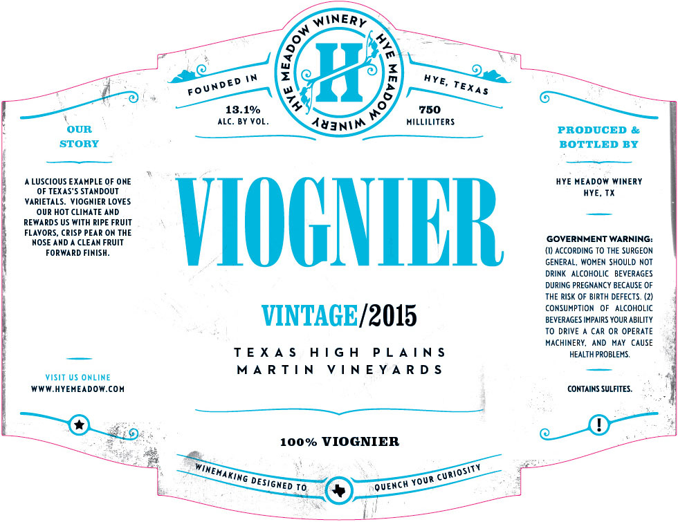 2015 Viognier - SOLD OUT  Photo
