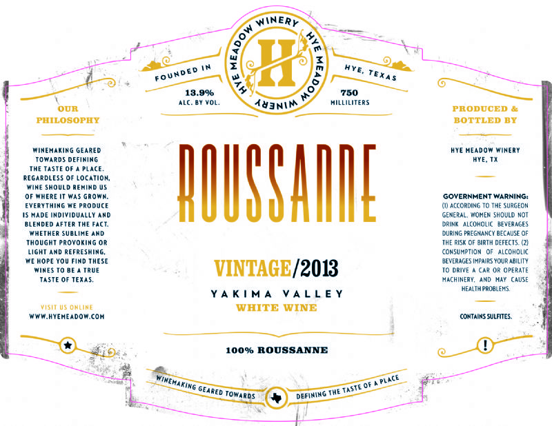 2013 Roussanne -- SOLD OUT Photo
