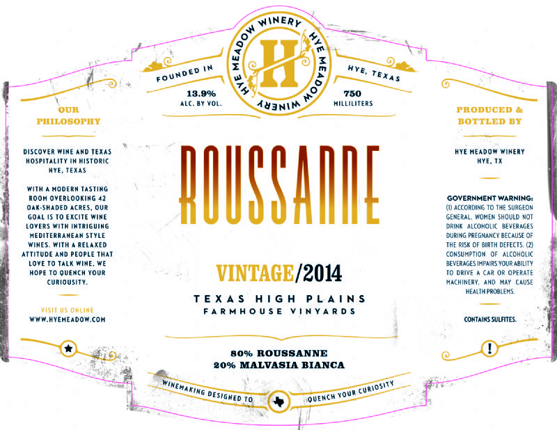 2014 Roussanne -- SOLD OUT