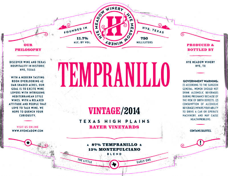 2014 Tempranillo -- SOLD OUT Photo