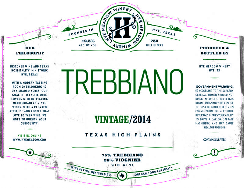 2014 Trebbiano -- SOLD OUT