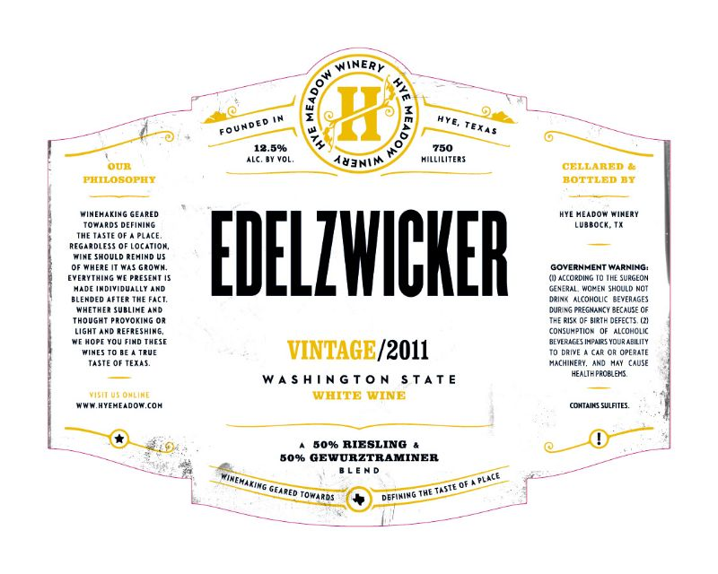 2011 Edelzwicker -- SOLD OUT
