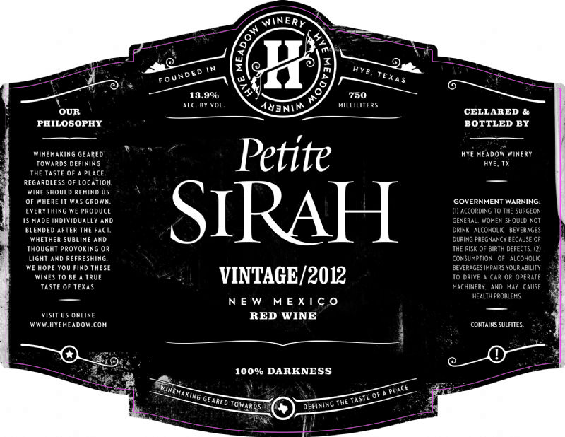 2012 Petite Sirah -- SOLD OUT
