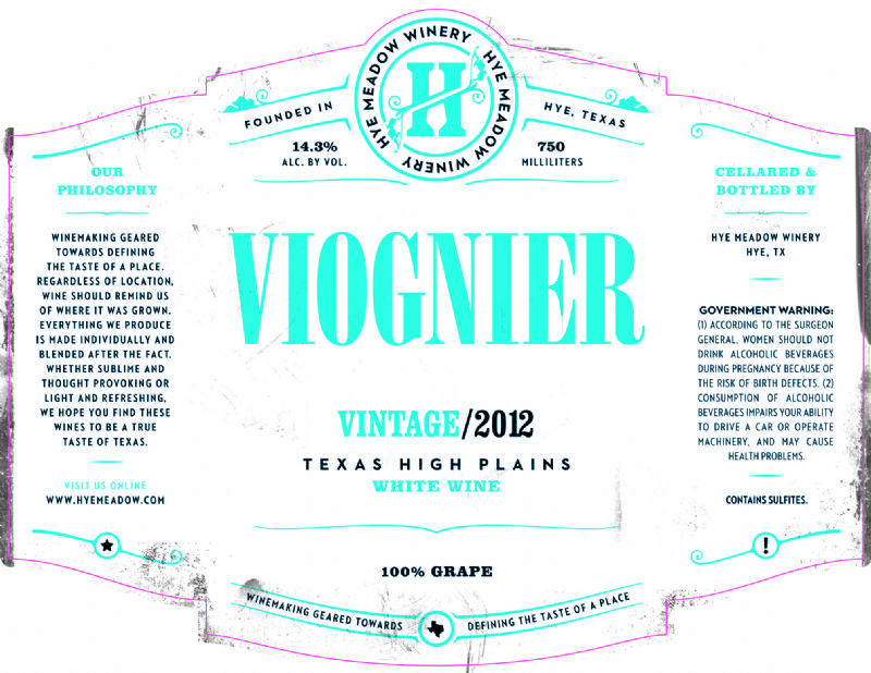 2012 Viognier -- SOLD OUT Photo