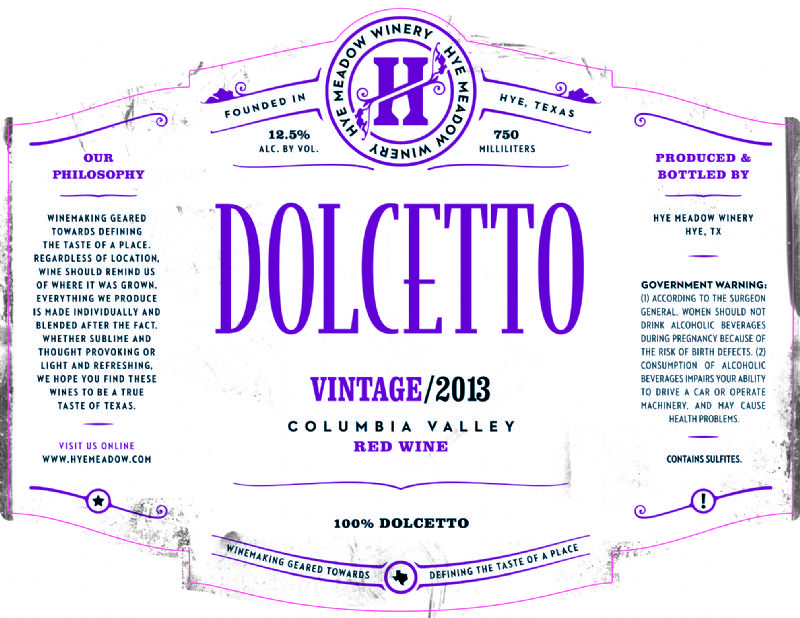 2013 Dolcetto -- SOLD OUT  Photo