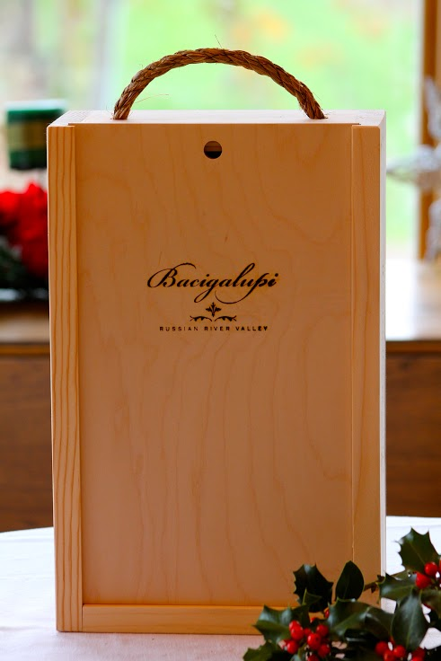 Bacigalupi Vineyards | Two bottle wood box