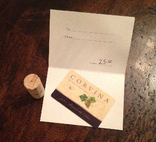 Corvina Gift Card $25 Photo