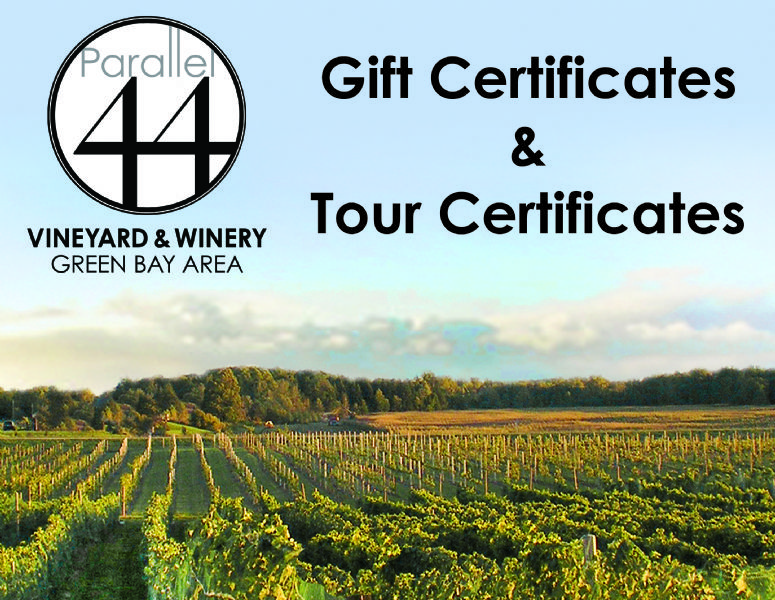Gift Certificates / Tour Certificates