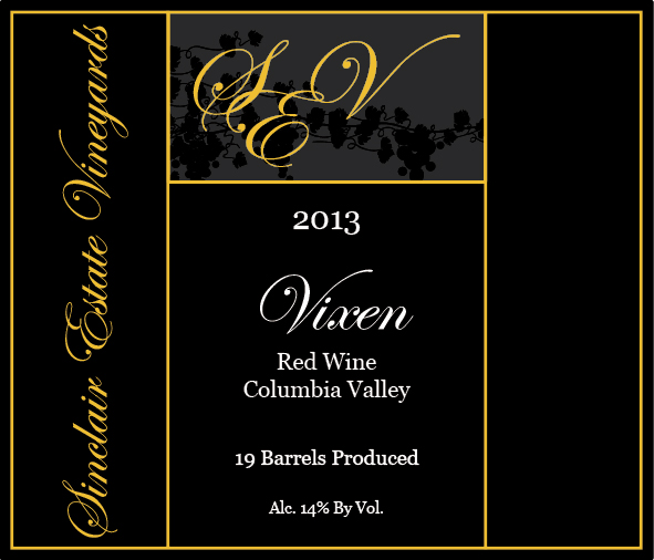 2013 Vixen Columbia Valley Red Wine