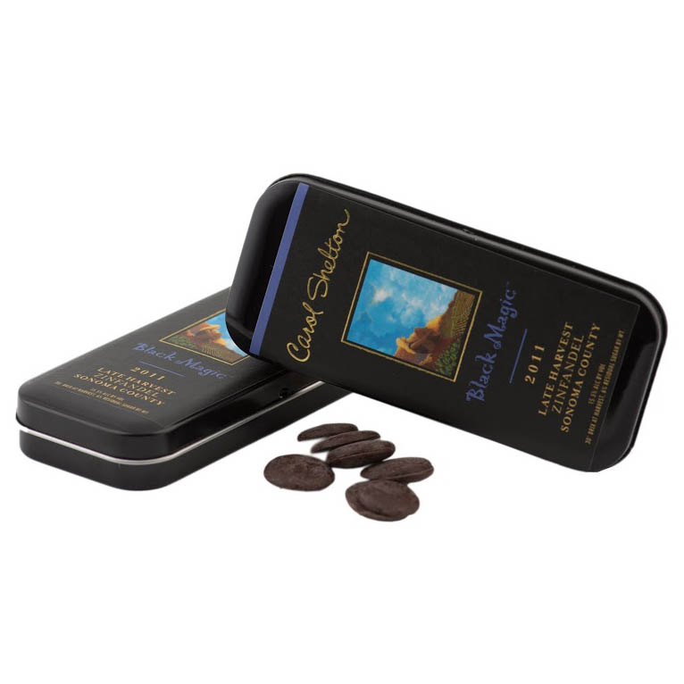 Dark Chocolate 72% Cacao with Carol Shelton Logo
