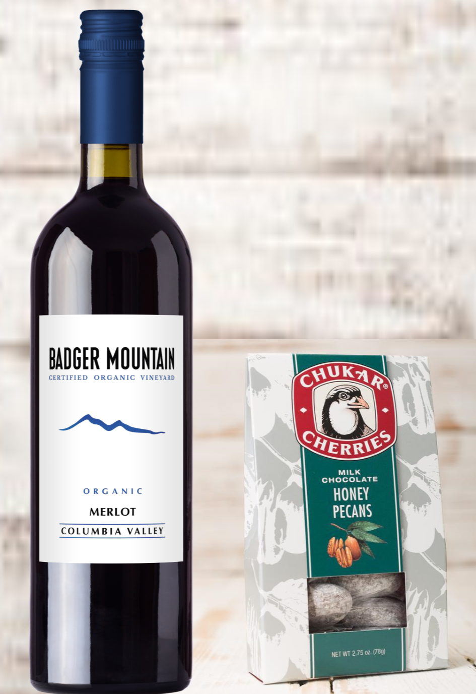 $20 Badger Mountain Merlot & Chocolate V-Day Gift Set Photo