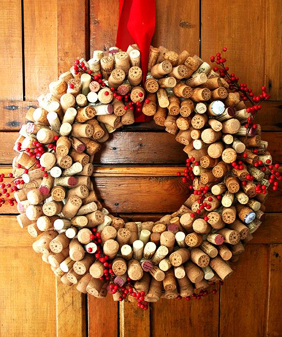 Dec. 3rd: Holiday Wine Cork Wreaths Photo