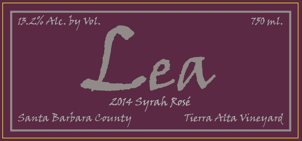 Lea Syrah Rose 2014 Tierra Alta Vineyard