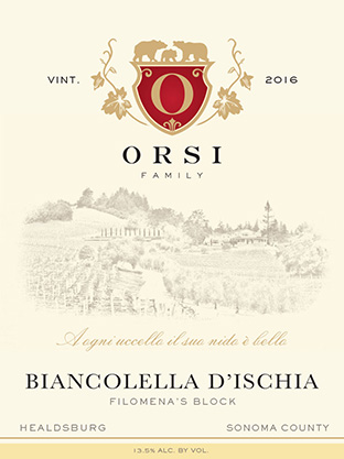 2016 Biancolella (Dry Creek Valley) Orsi Home Ranch Photo