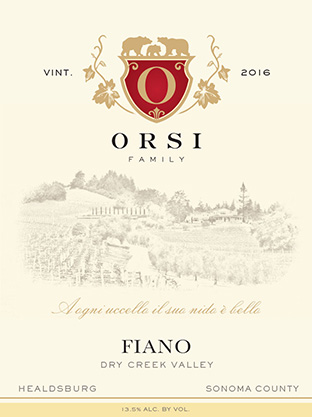 2016 Fiano (Dry Creek Valley) Orsi Home Ranch Photo