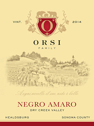 2014 Negro Amaro (Dry Creek Valley) Orsi Home Ranch Photo