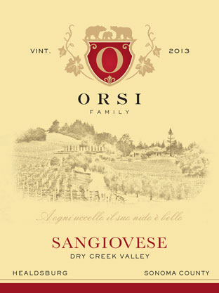 2013 Sangiovese (Dry Creek Valley) Orsi Home Ranch Photo