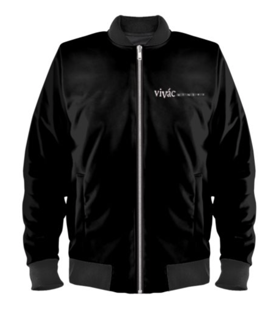 Ladies Black Bomber Logo Jacket Photo