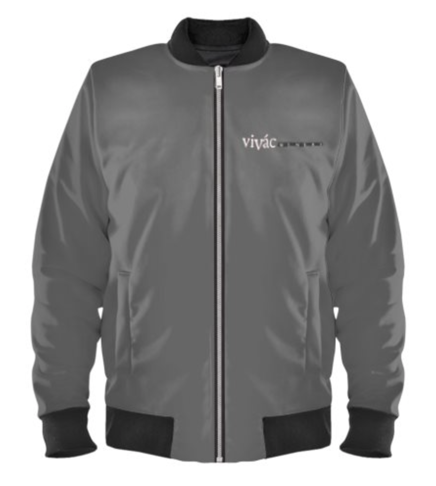 Ladies Gray Bomber Logo Jacket Photo